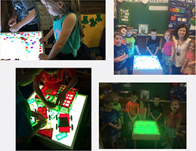 Fairhaven Elementary School New Interactive Light Table